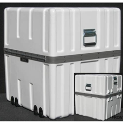 Parker Plastics Shipping Container with Recessed Edge Casters SW 2424-27